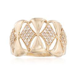 .50 ct. t.w. Diamond Geometric Openwork Ring in 14kt Yellow Gold, , default