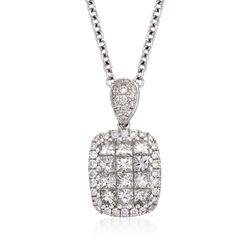 "Gregg Ruth .76 ct. t.w. Diamond Necklace in 18kt White Gold. 16"", , default"