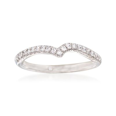 Gabriel Designs .22 ct. t.w. Diamond Curved Wedding Ring in 14kt White Gold, , default