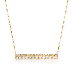 .25 ct. t.w. Diamond Bar Necklace in 14kt Yellow Gold, , default