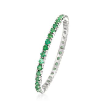 .33 ct. t.w. Emerald Eternity Band in 14kt White Gold