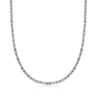 2.3mm Sterling Silver Byzantine Necklace, , default