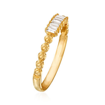 .10 ct. t.w. Diamond Multi-Baguette Ring in 14kt Yellow Gold