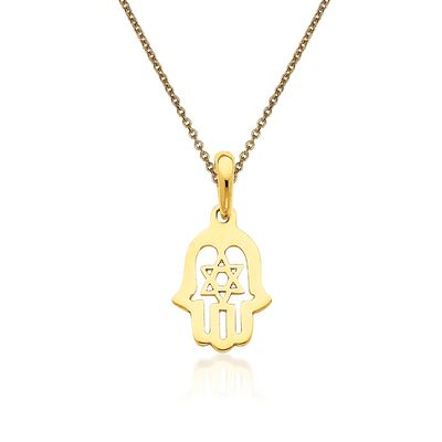 14kt Yellow Gold Chamseh Pendant Necklace, , default