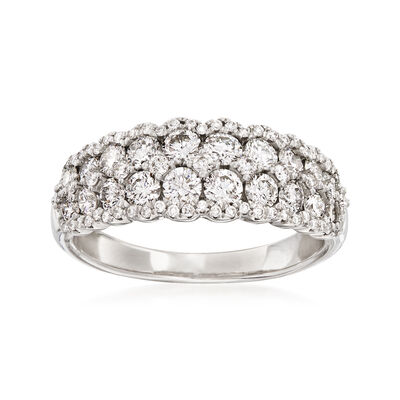 1.30 ct. t.w. Diamond Cluster Ring in 14kt White Gold, , default