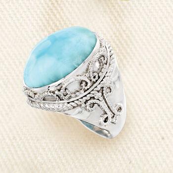 Larimar Ring in Sterling Silver