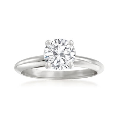 1.29 Carat Certified Diamond Solitaire Ring in 14kt White Gold