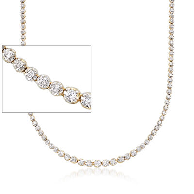 2.50 ct. t.w. Graduated Diamond Tennis Necklace in 14kt Yellow Gold, , default