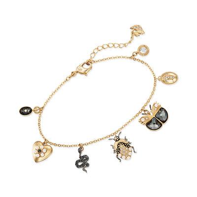 Swarovski Crystal Multi-Drop Charm Bracelet, , default