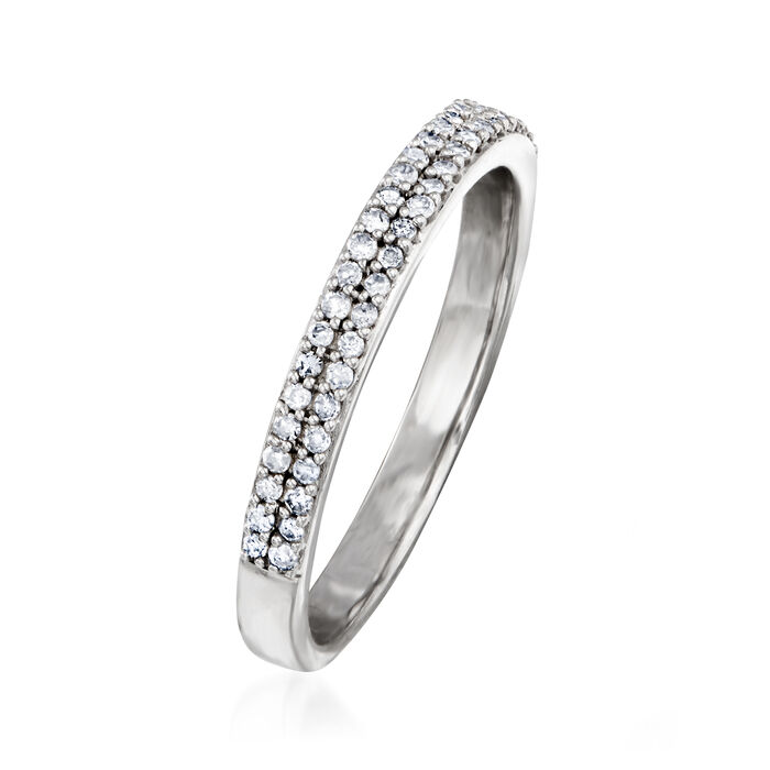.25 ct. t.w. Diamond Double-Row Ring in Sterling Silver
