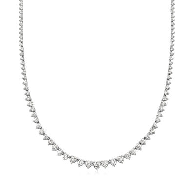7.00 ct. t.w. Diamond Tennis Necklace in 14kt White Gold