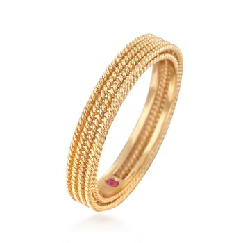 "Roberto Coin ""Symphony"" Barocco Ring in 18kt Yellow Gold. Size 7, , default"