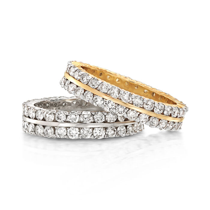 2.00 ct. t.w. Diamond Two-Row Eternity Band in 14kt Yellow Gold