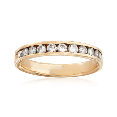 C. 1980 Vintage .90 ct. t.w. Channel-Set Diamond Ring in 14kt Yellow Gold , , default