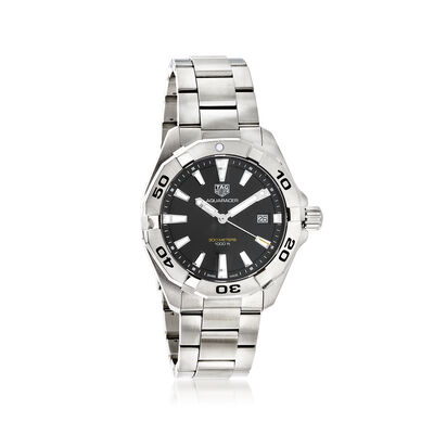 TAG Heuer Aquaracer Men's 41mm Stainless Steel Watch - Black Dial, , default