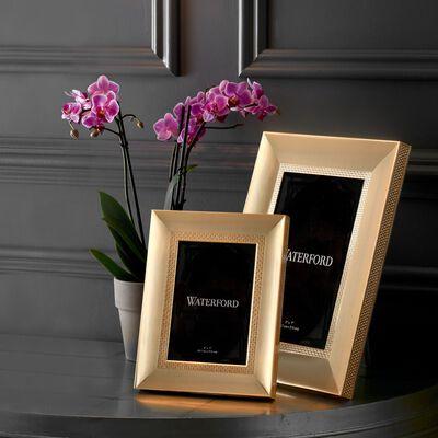 "Waterford ""Lismore Diamond"" Goldtone Frame, , default"