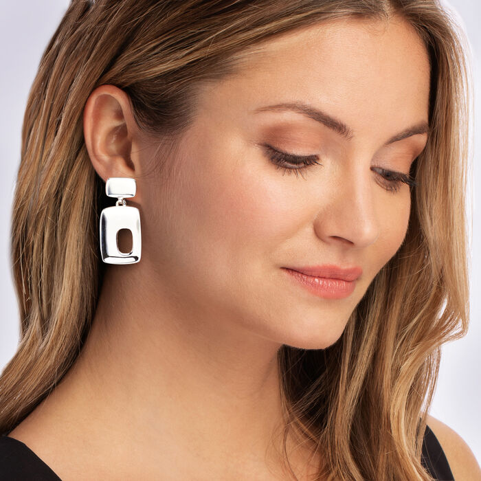 "Zina Sterling Silver ""Palm Springs"" Large Drop Earrings"