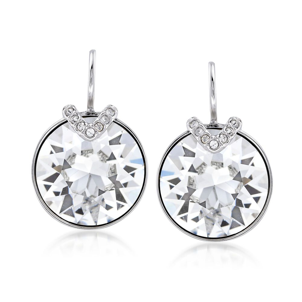Swarovski Crystal Bella Large Drop Earrings In Silvertone Default