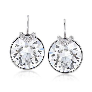 """Swarovski Crystal """"Bella"""" Large Crystal Drop Earrings in Silvertone , , default"""