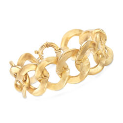 Italian 14kt Yellow Gold Large Link Bracelet, , default