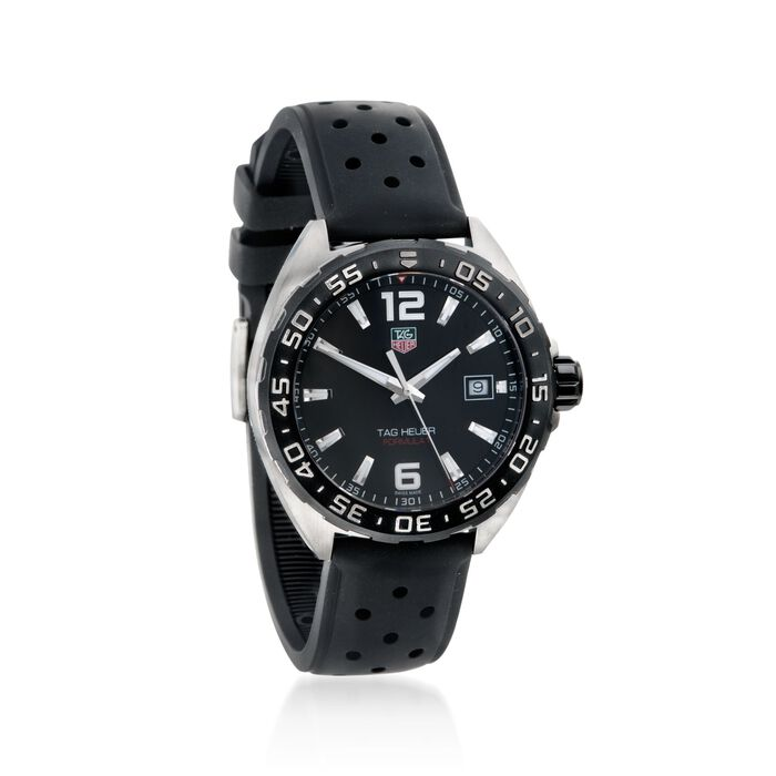 TAG Heuer Formula 1 Men's 41mm Stainless Steel Watch with Black Rubber Strap, , default