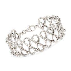Italian Sterling Silver Infinity-Link Bracelet, , default