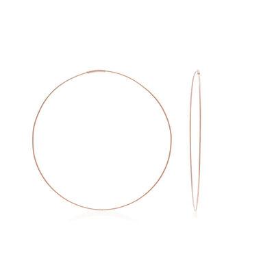 """14kt Rose Gold Endless Wire Hoop Earrings. 3"""", , default"""