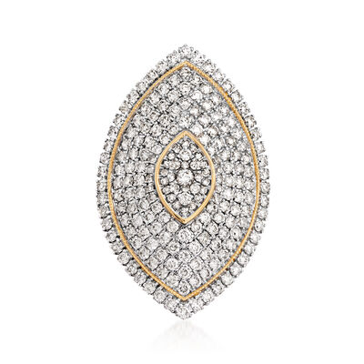 2.50 ct. t.w. Diamond Marquise-Shaped Ring in 14kt Yellow Gold, , default