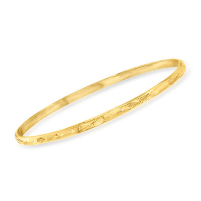 C. 1990 Vintage 20kt Yellow Gold Bangle Bracelet