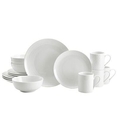 "Mikasa ""Cheers White"" Dinnerware Set, , default"