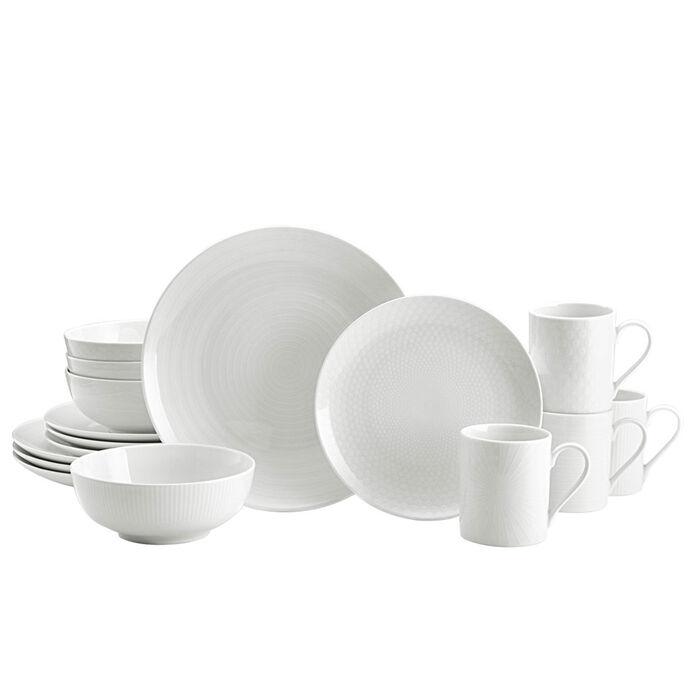 """Mikasa """"Cheers White"""" Dinnerware Set"""