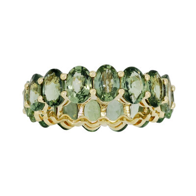 10.00 ct. t.w. Green Sapphire Eternity Ring in 18kt Yellow Gold