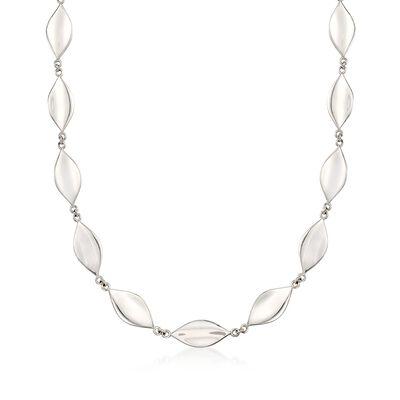 """Zina Sterling Silver """"Smooth Leaf"""" Necklace, , default"""