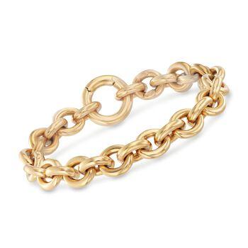 "Italian 18kt Yellow Gold Cable Link Bracelet. 7.5"", , default"