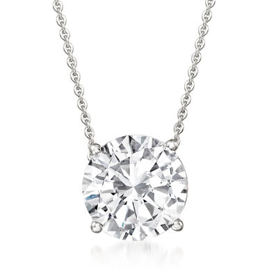 2.00 Carat Diamond Solitaire Necklace in 14kt White Gold
