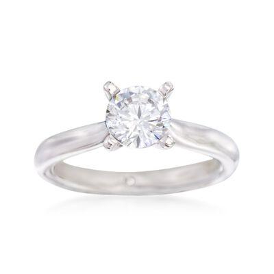 Gabriel Designs 14kt White Gold Engagement Ring Setting, , default