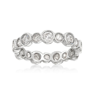 2.00 ct. t.w. Bezel-Set Diamond Eternity Band in 14kt White Gold, , default