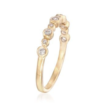 .20 ct. t.w. Bezel-Set Diamond Ring in 14kt Yellow Gold, , default