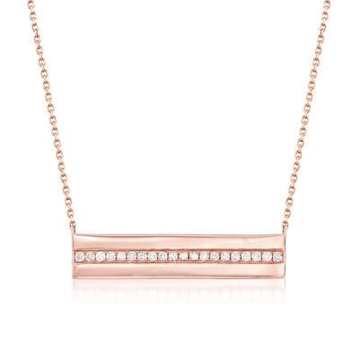 .40 ct. t.w. Diamond Bar Necklace in 14kt Rose Gold, , default