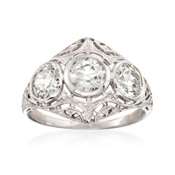 C. 1950 2.20 ct. t.w. 3-Stone Diamond Ring in Platinum, , default