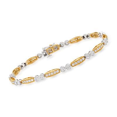 2.50 ct. t.w. Diamond Bracelet in 14kt Two-Tone Gold