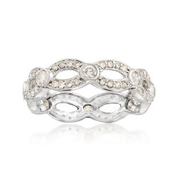 1.00 ct. t.w. Diamond Scalloped Eternity Band in 14kt White Gold, , default