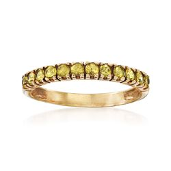 C. 1990 Vintage 1.00 ct. t.w. Yellow Sapphire Ring in 10kt Yellow Gold. Size 9, , default