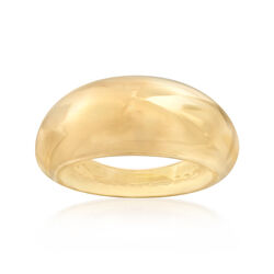 Italian 14kt Yellow Gold Shiny Dome Ring, , default