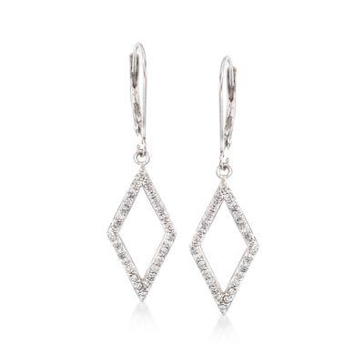 .50 ct. t.w. Diamond Open Kite Drop Earrings in 14kt White Gold, , default