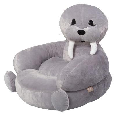 Children's Walrus Plush Character Chair, , default