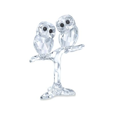 "Swarovski Crystal ""Baby Owls on a Branch"" Figurine, , default"