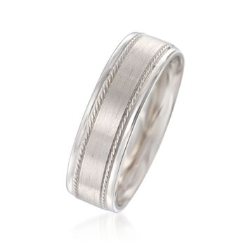 Men's 7mm 14kt White Gold Wedding Ring