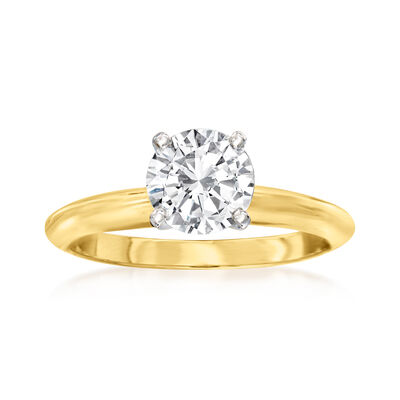 1.02 Carat Certified Diamond Solitaire Ring in 14kt Yellow Gold