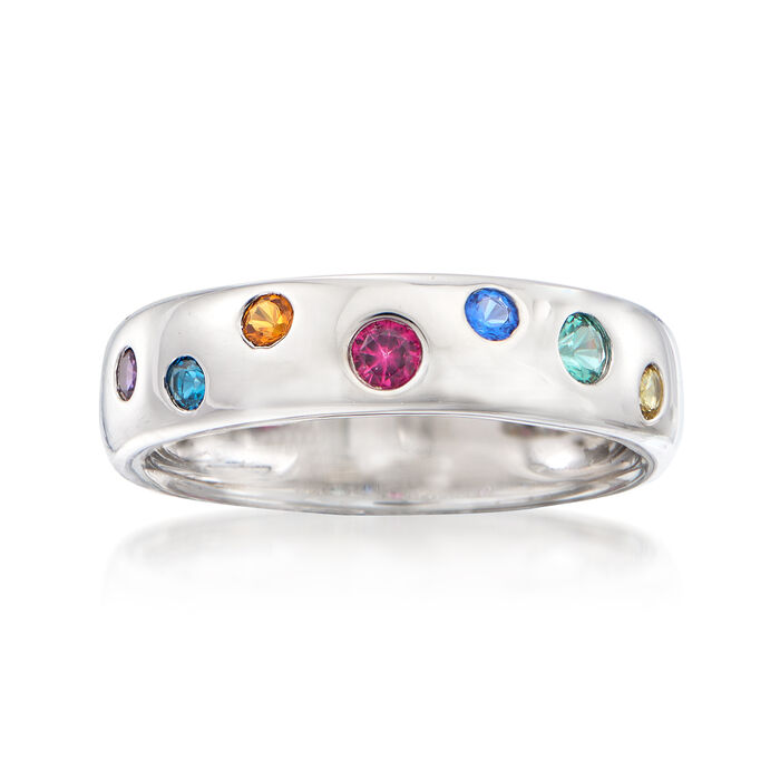 .25 ct. t.w. Multicolored CZ Ring in Sterling Silver